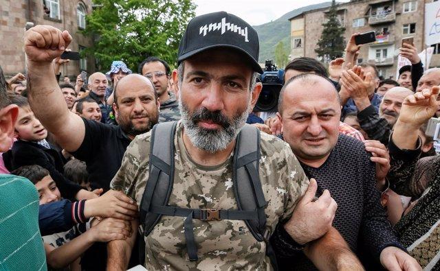 El líder de la oposición armenia, Nikol Pashinian
