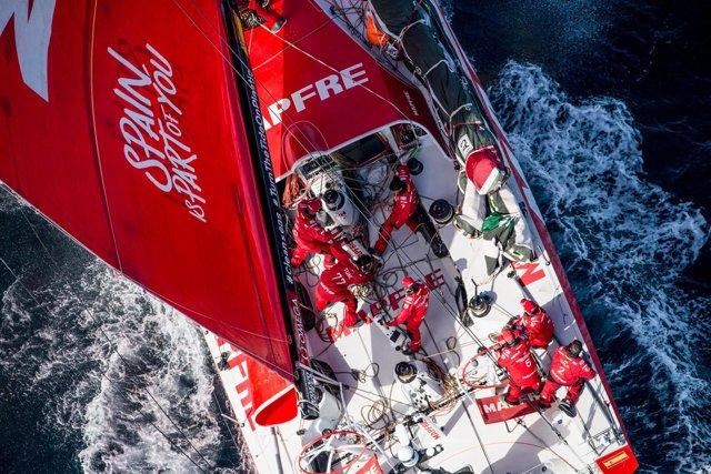 MAPFRE salida de la etapa 7 de Auckland a Itajaí Volvo Ocean Race