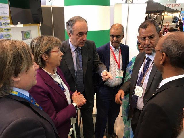 La conselleira do Mar junto a Mohamed Ould Ely Ould Barham en Bruselas