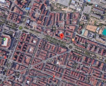 Dos heridos leves al chocar dos vehículos en Blasco Ibáñez