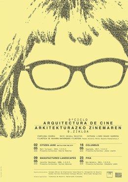 Cartel del ciclo 'Arquitectura de cine'