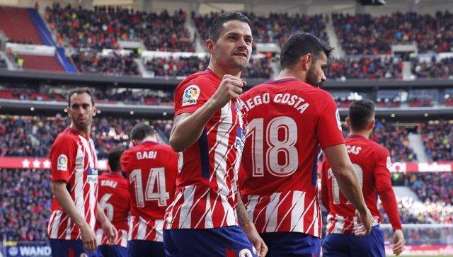 El jugador del Atlético de Madrid Víctor Machín, 'Vitolo'