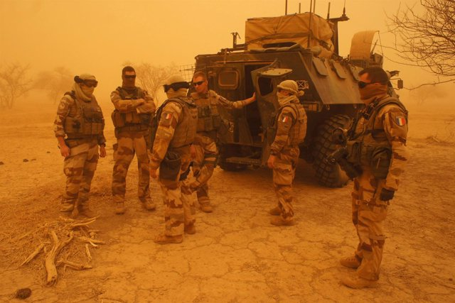 Soldados franceses de la Operación Barkhane en Malí