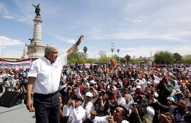 Andres Manuel López Obrador en Ciudad Juárez