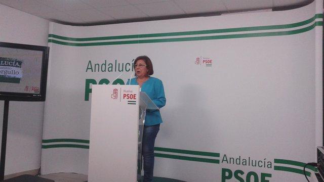 La senadora por el PSOE de Huelva, Ana Pérez.