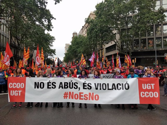 Manifestación del 1 de Mayo de UGT y CCOO en Barcelona