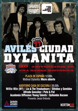 Cartel de 'Avilés, Ciudad Dylanita'