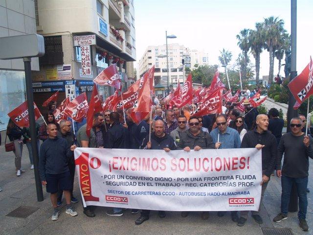 Manifestación por el Primero de Mayo en Ceuta