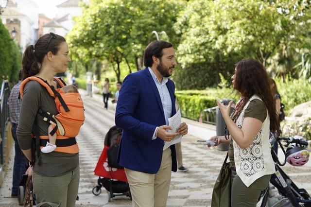 El portavoz adjunto de Ciudadanos en el Ayuntamiento, Francisco Moraga