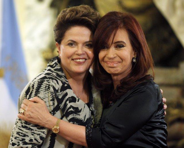 Dilma Rousseff Junto A Cristina Fernández De Kirchner