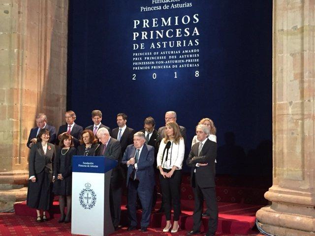 Jurado Premios Princesa de Comunicación y Humanidades 2018