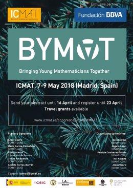 Cartel I congreso BYMAT que acoge el ICMAT-CSIC