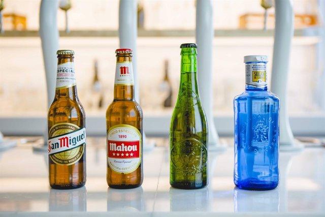 Envases de bebidas Mahou San Miguel