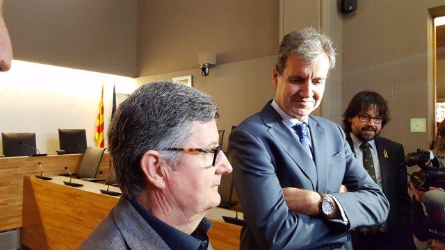 Lluís Teixidor (alcalde del Prat) Juan Alfaro (Renfe) Ricard Font (Generalitat)