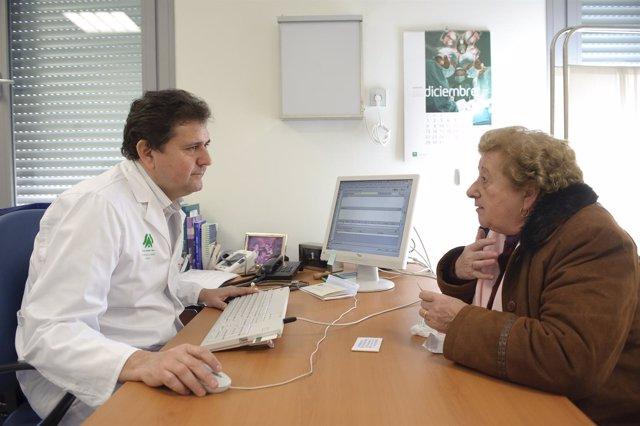Paciente en la consulta del médico