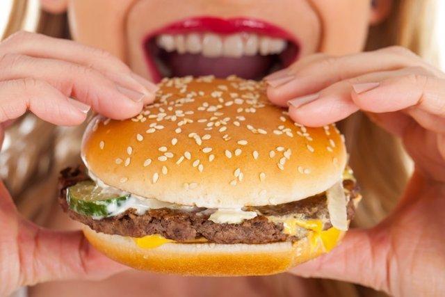 Hamburguesa, comida rápida, comida basura