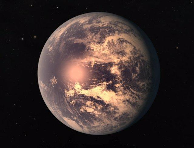 Impresión artística de TRAPPIST 1e