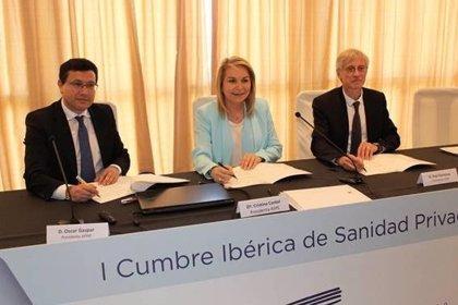 Las patronales de la sanidad privada en España y Portugal acuerdan impulsarla colaboración entre sus hospitales