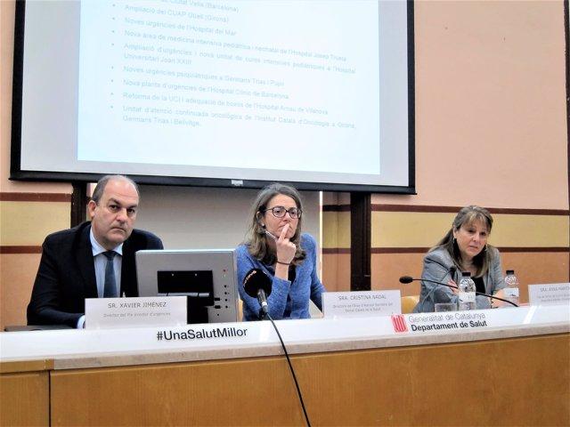 Xavier Jiménez, Cristina Nadal, Anna Martínez (Conselleria de Salud Generalitat)