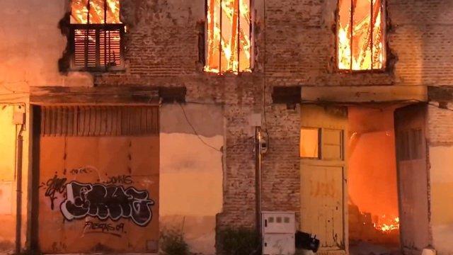 Incendio declarado en el Palacio de Osuna de Aranjuez