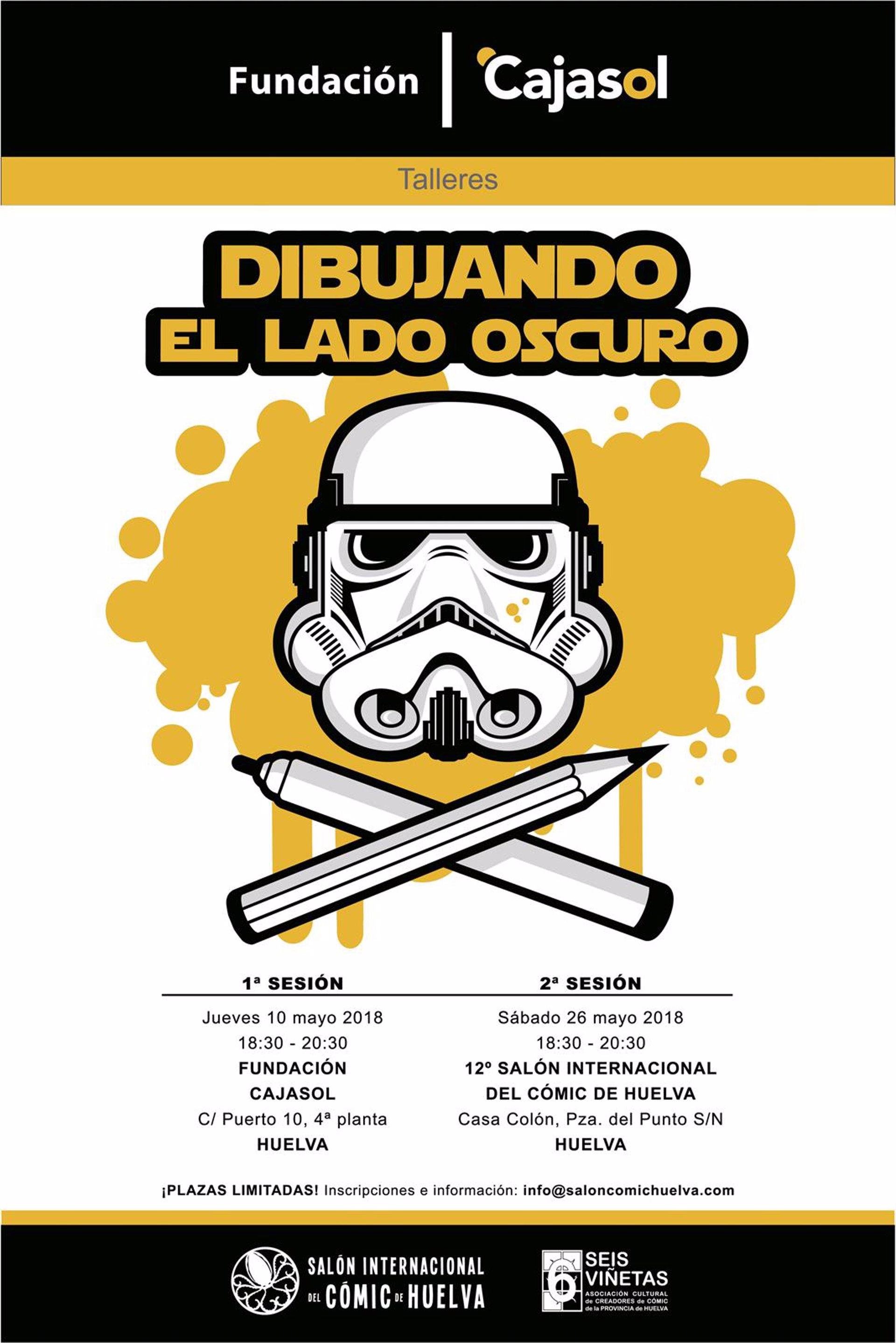La Saga Star Wars Llega Al Taller Dibujando El Lado Oscuro En Huelva