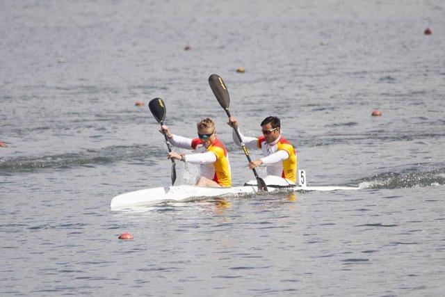 Marcus Cooper Walz y Rodrigo Germade Oro en K2 500