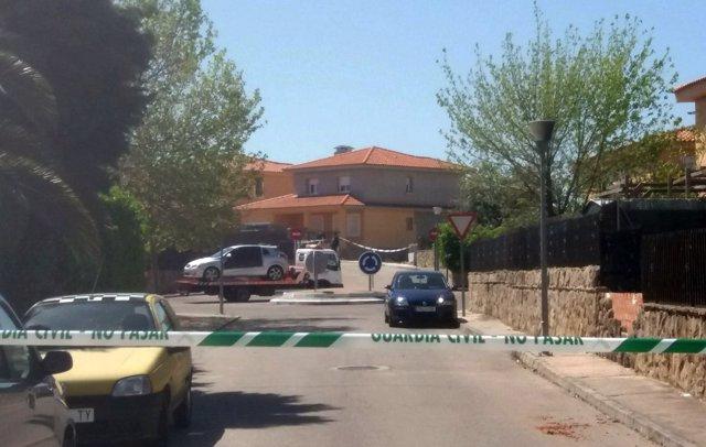 Calle de Las Ventas de Retamosa donde se ha producido el suceso