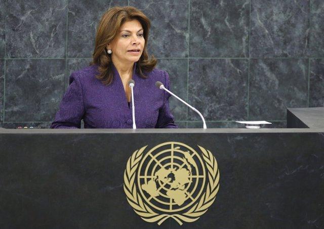 Laura Chinchilla en la ONU