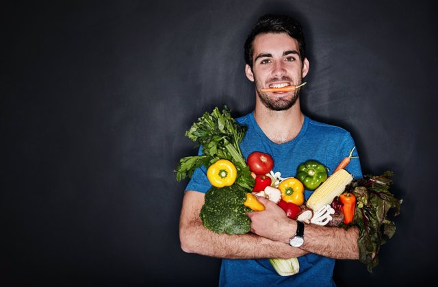 Vegetariano, vegano, sano, saludable, frutas, verduras