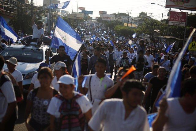 Protestas contra Daniel Ortega en Nicaragua