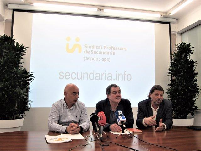 Ignasi Fernández (advocat) Xavier Massó (Aspepc·Sps), d'esquerra a dreta