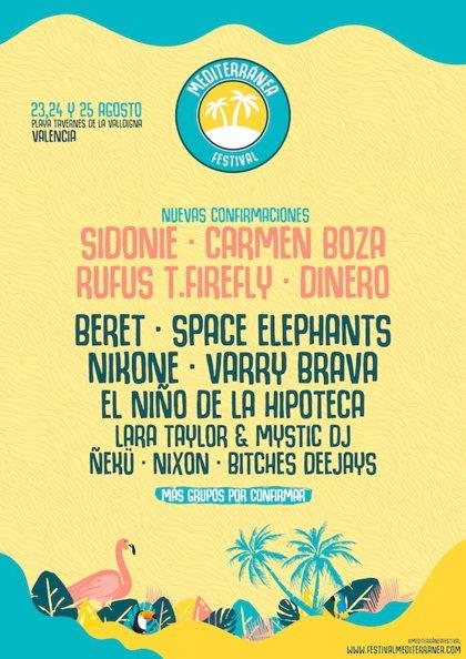 Sidonie, Carmen Boza, Rufus T. Firefly y Dinero se suman al Mediterránea Festival