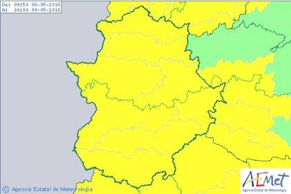 El 112 activa la alerta amarilla este martes ante la previsión de tormentas en Extremadura