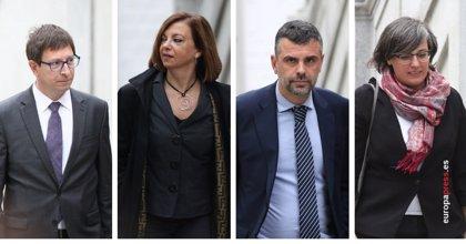Borrás, Mundó y Vila son informados de sus delitos y Boya (CUP) defiende la autodeterminación ante Llarena