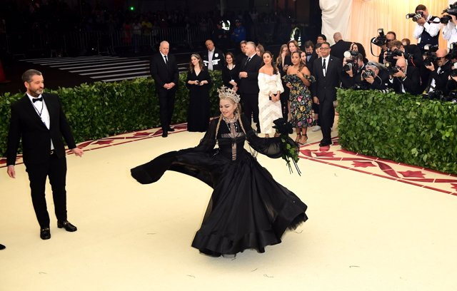 Madonna attending the Metropolitan Museum of Art Costume Institute Benefit Gala