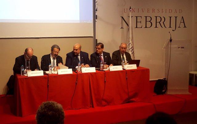 Rueda de prensa de rectores en la Universidad de Nebrija