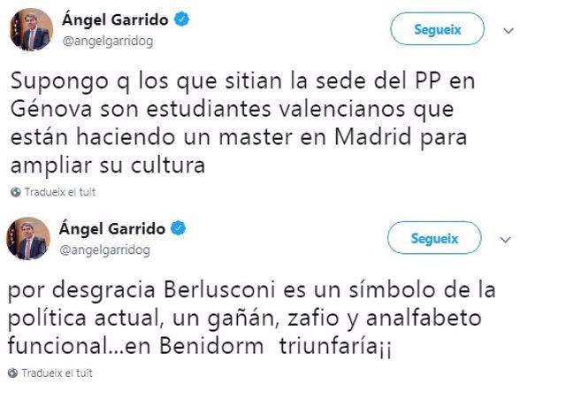 Mensajes de Ángel Garrido desvelados por Compromís