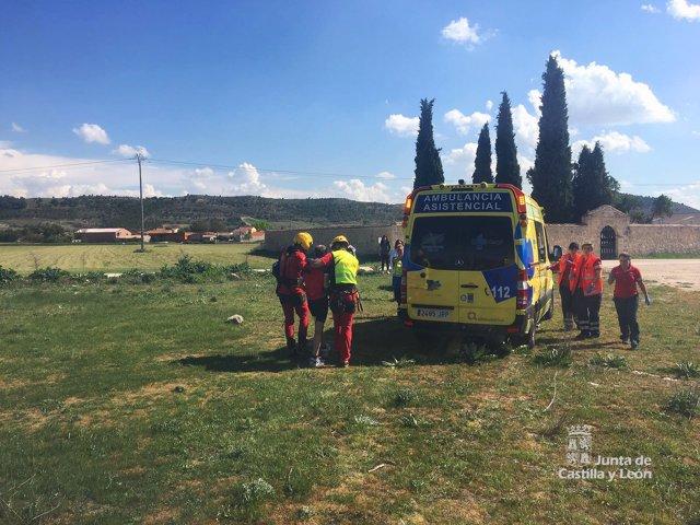 Rescate en Valbuena de Duero (Valladolid)