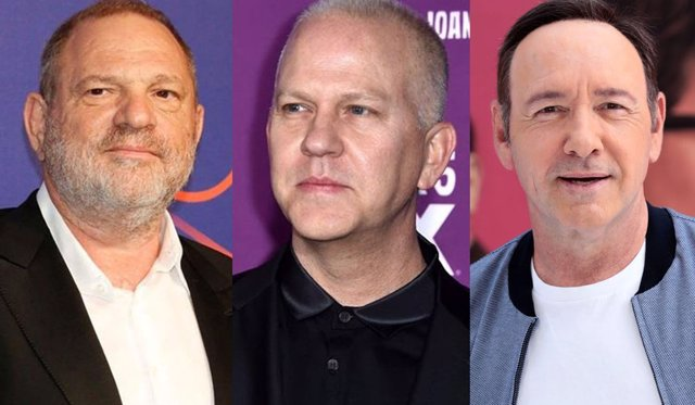 Harvey Weinstein, Ryan Murphy y Kevin Spacey