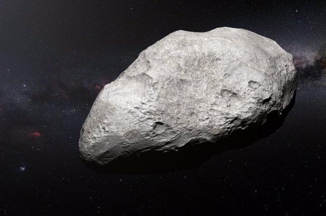 Ilustración del asteroide exiliado '2004 EW95'