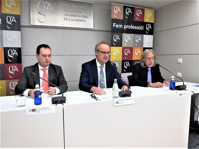 Lluís M. Alonso, Alfonso Lluzar, Jordi Altayó (Col·legi Gestors Administratius)