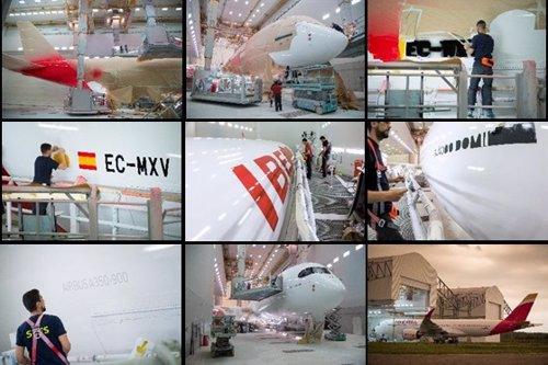 Segundo avión de Iberia bautizado con el nombre de Plácido Domingo