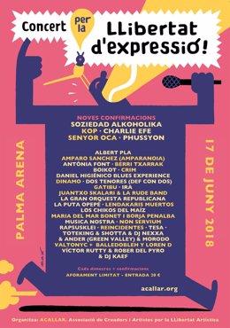 Cartel del concierto por la  libertad de expresión