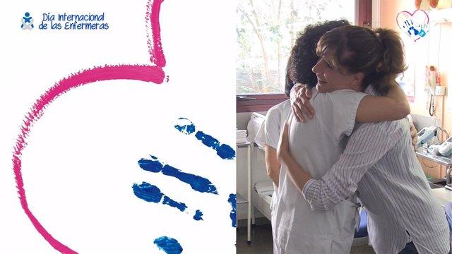 Dos protagonistas de la campaña 'Tue enfermera deja huella'