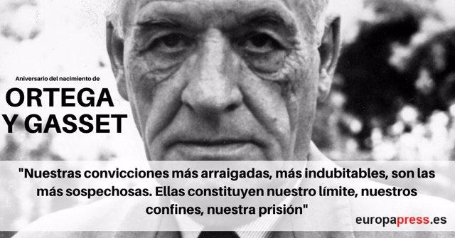 Aniversario nacimiento Ortega y Gasset