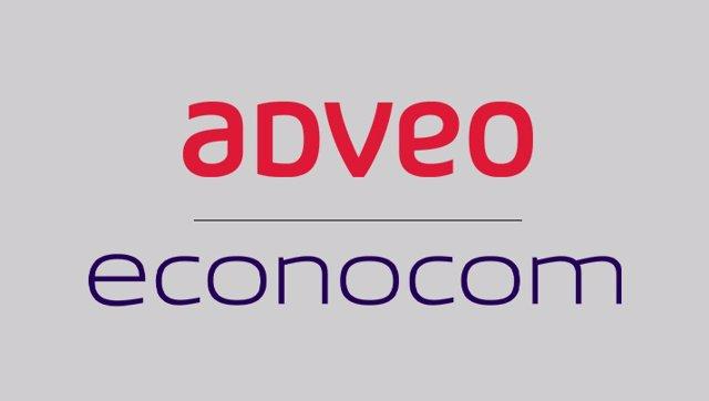 Logos de Grupo Econocom y ADVEO