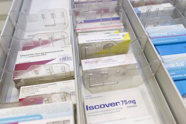 Imagen de archivo de medicamentos