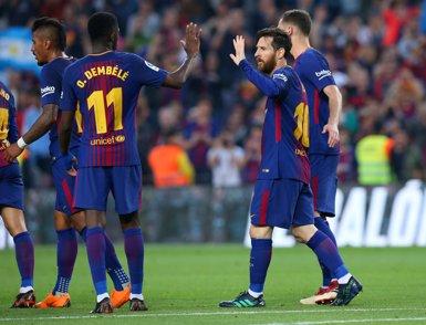 Dembélé brilla contra el Vila-real i el Barça segueix invicte (REUTERS)