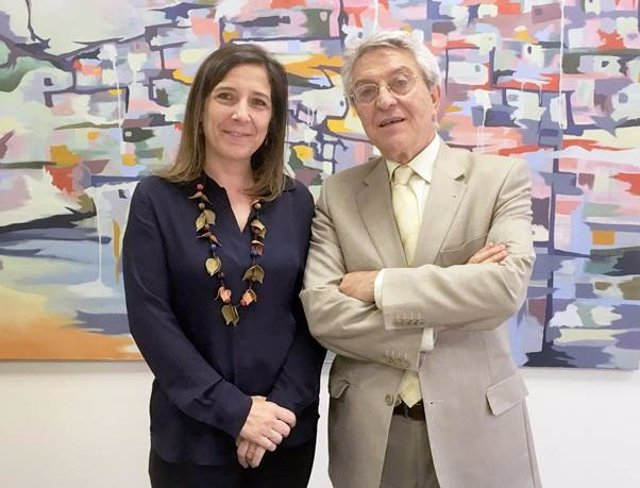 Mónica Suárez Felgueroso, de ASEM, y Exuperio Díez Tejedor, de SEN