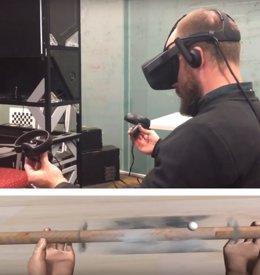 El efecto de 'valle inquietante'  en el tacto en VR